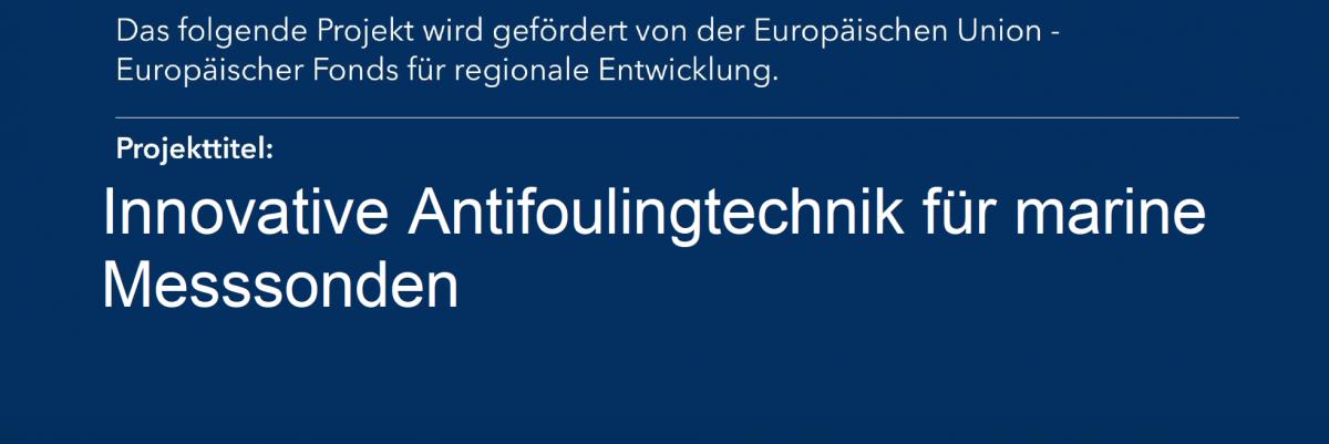 Screenshot aus Förderbescheid von EU und Land Schleswig Holstein über das Projekt Antifouling